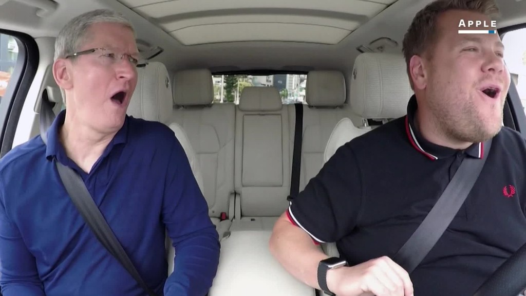 Apple's Tim Cook plays Carpool Karaoke