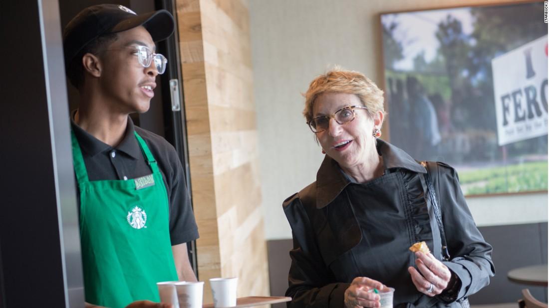 Starbucks CEO: Ferguson store is a success - Video - Economy