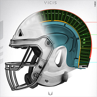 3f65f57857d Flexible NFL helmet aims to reduce head injuries