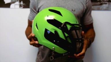 This company is turning football helmet design on its head