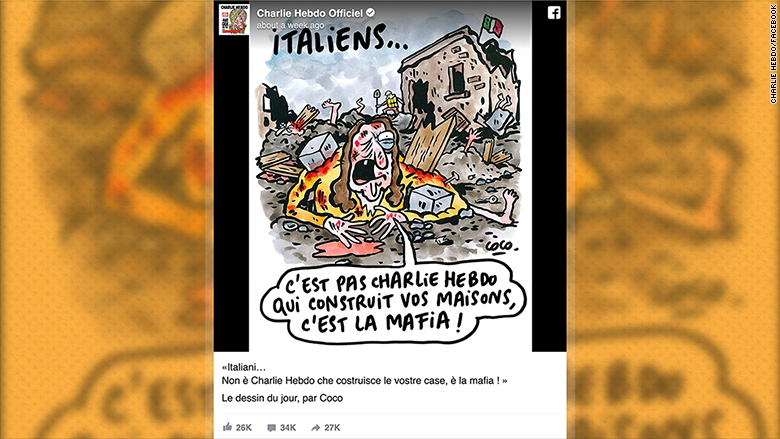 charlie hebdo earthquake