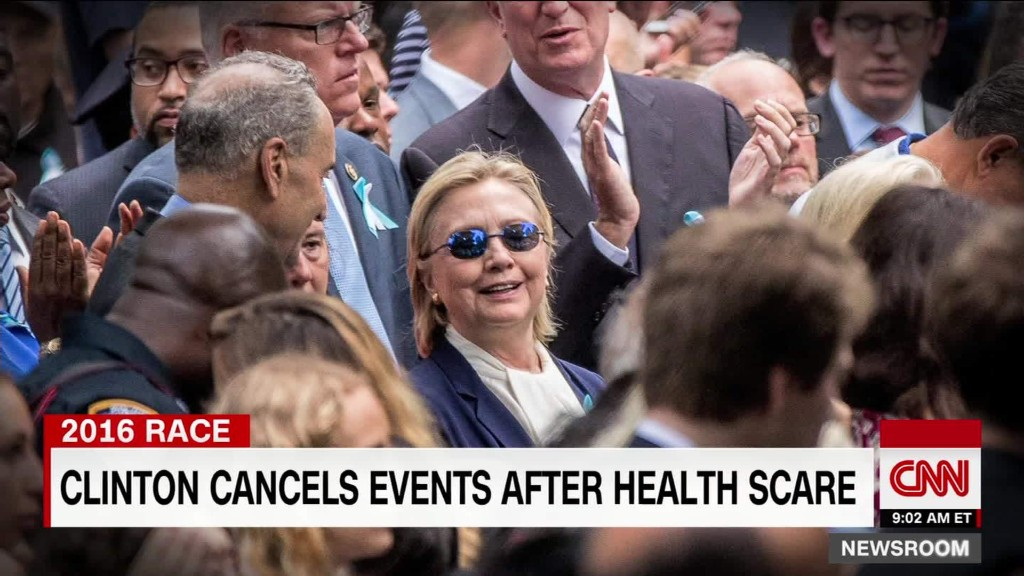 Video shows Clinton stumble leaving 9/11 event