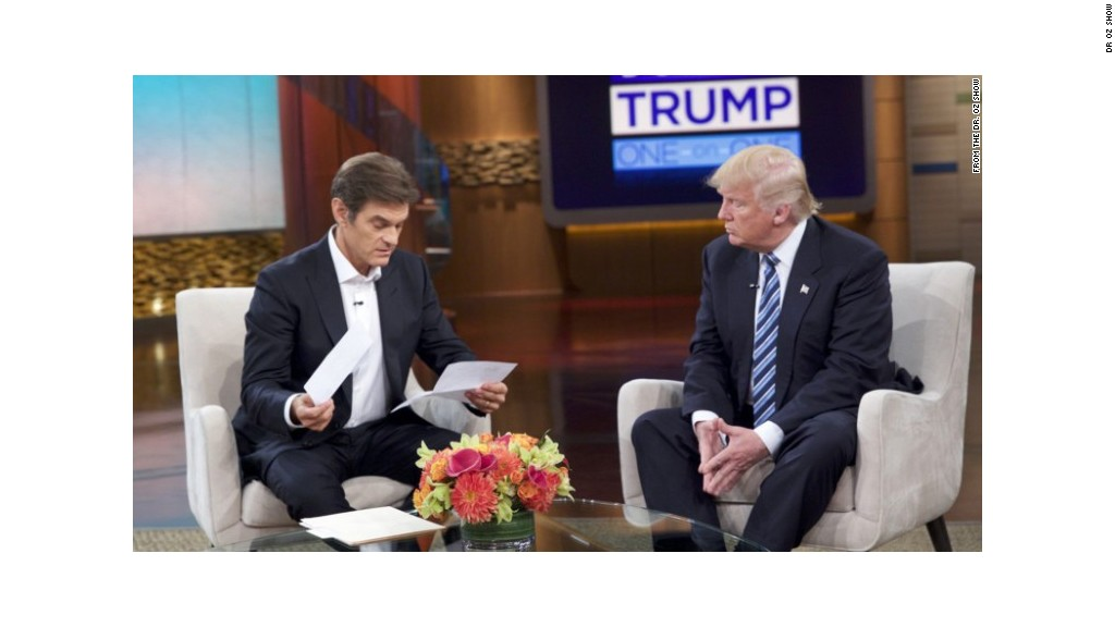 First clip released of Donald Trump on 'Dr. Oz'