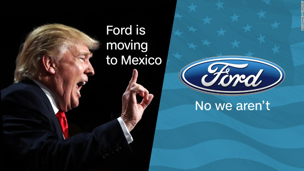 Trump on Ford: We're going to tax them 35%