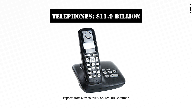 mexican imports telephones