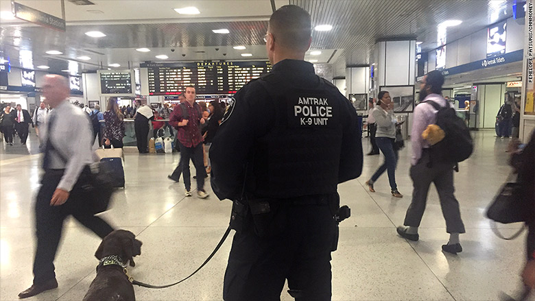 penn station amtrak police