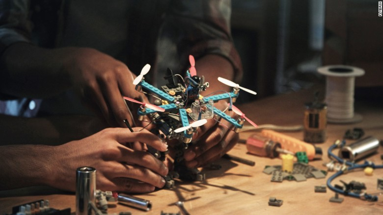 flybrix drone assembly