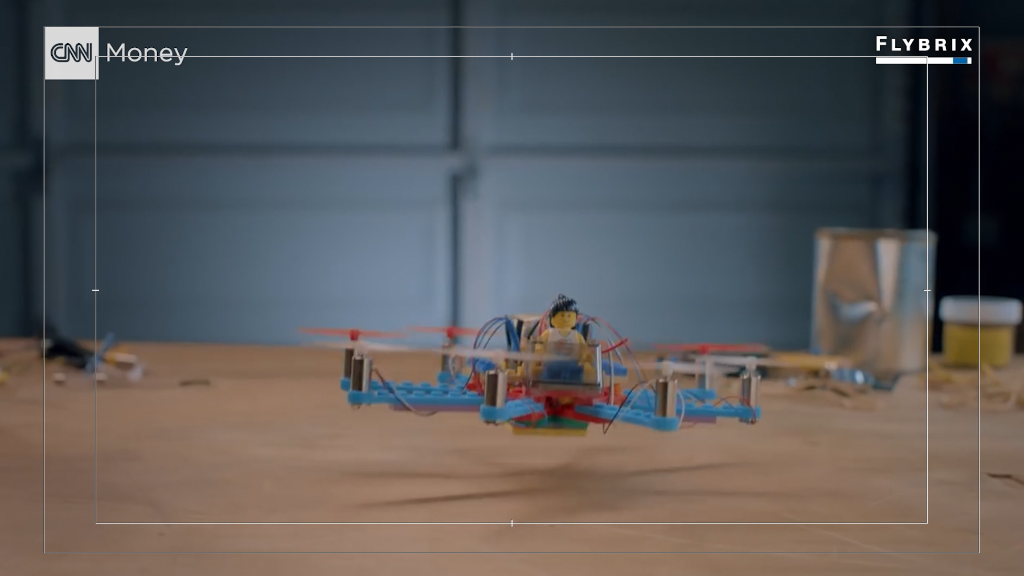 Flying a drone made out of Legos