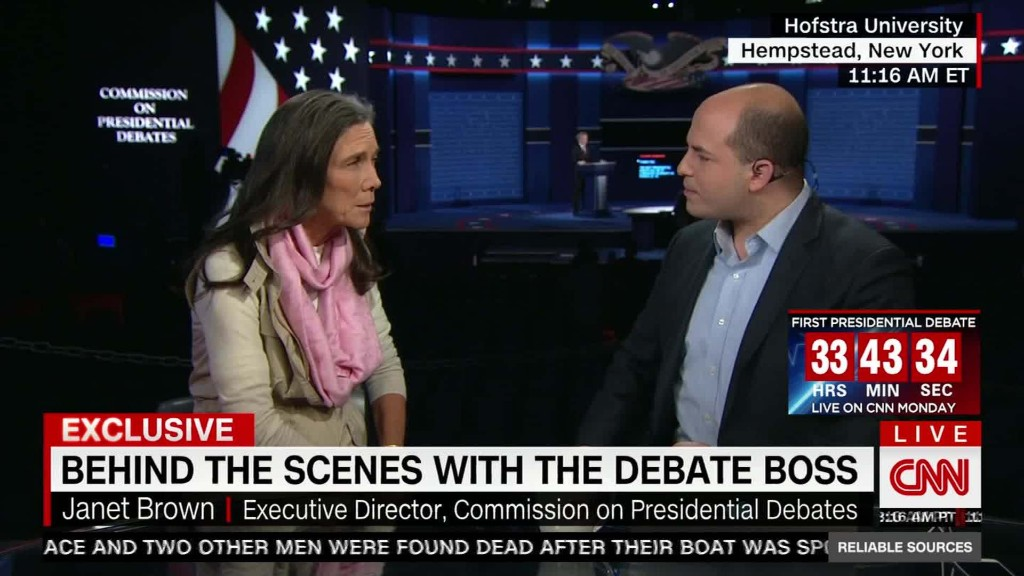Debate commission chief: Candidates should fact-check each other