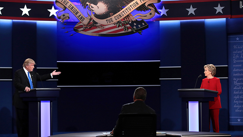 debate trump hillary start