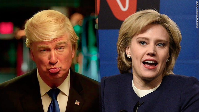snl trump clinton split