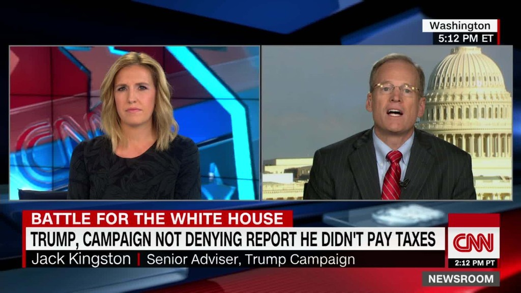 Trump adviser: 'He would be in jail if he had not paid taxes'