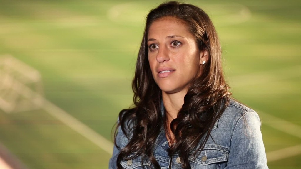 Carli Lloyd: 'We put just as much effort in as men do'