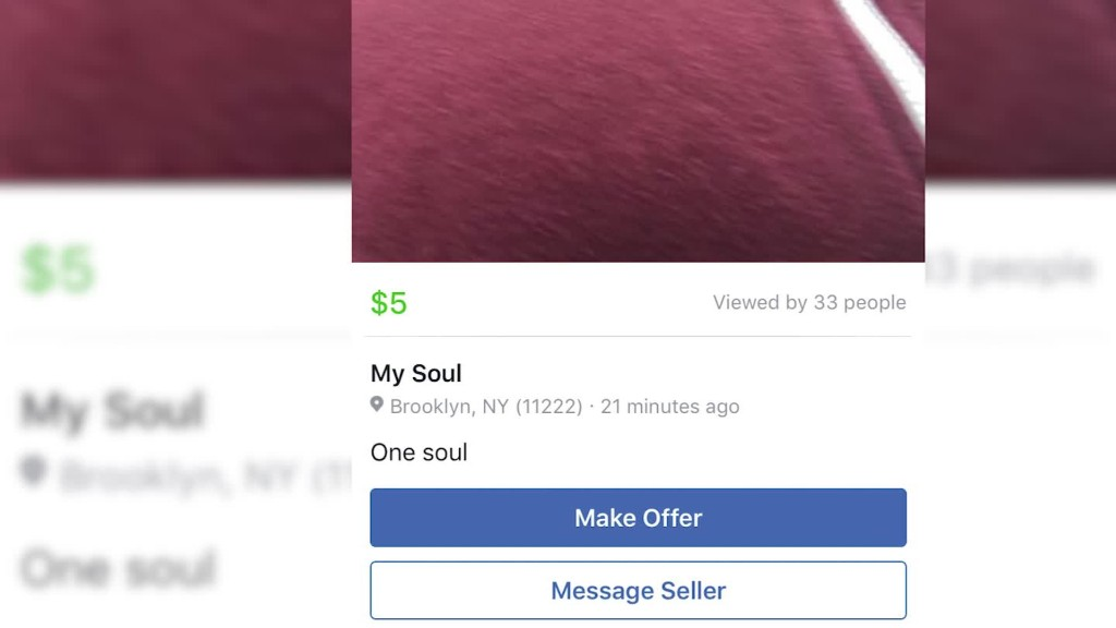 A look at the weird posts on Facebook Marketplace