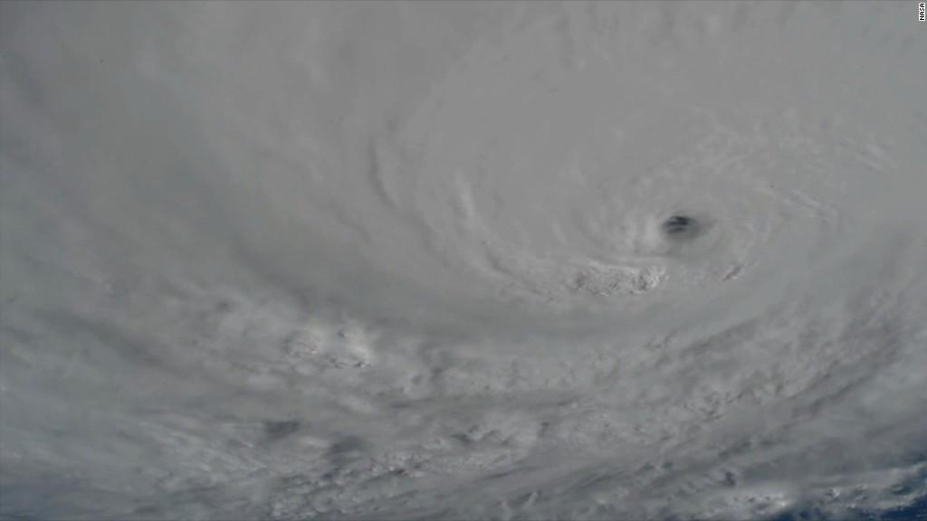 See Hurricane Matthew churn from space