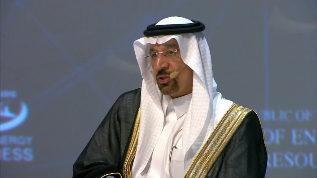 Saudi oil minister: Oil supply cut on track
