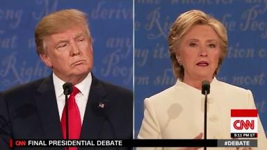 Hillary Clinton tactically jabs Donald Trump in Las Vegas debate