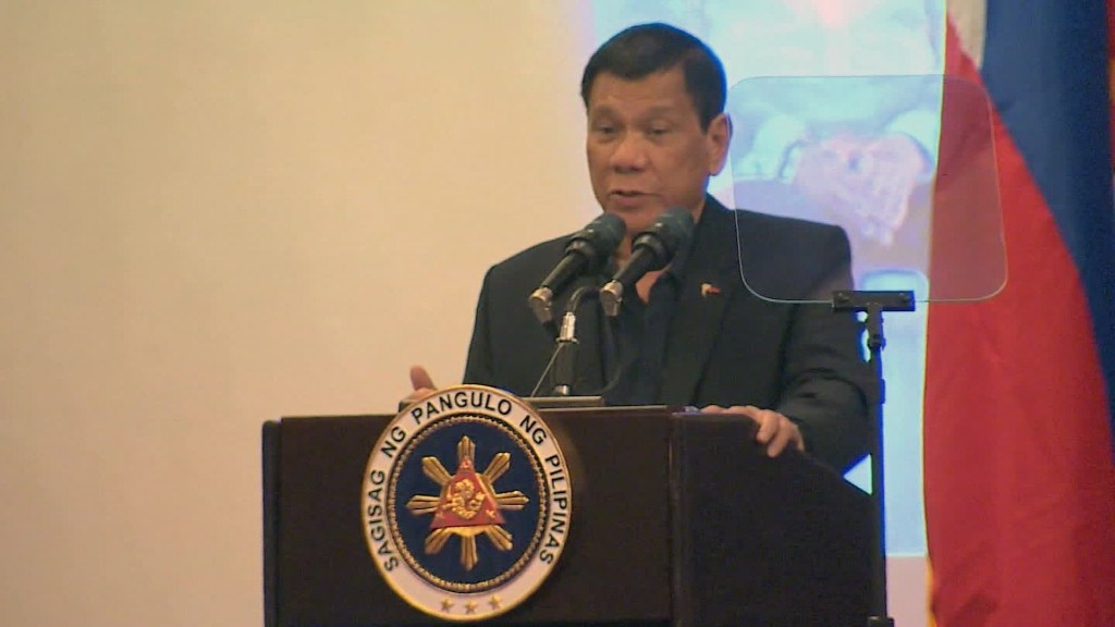 Philippine President Duterte pivots to China
