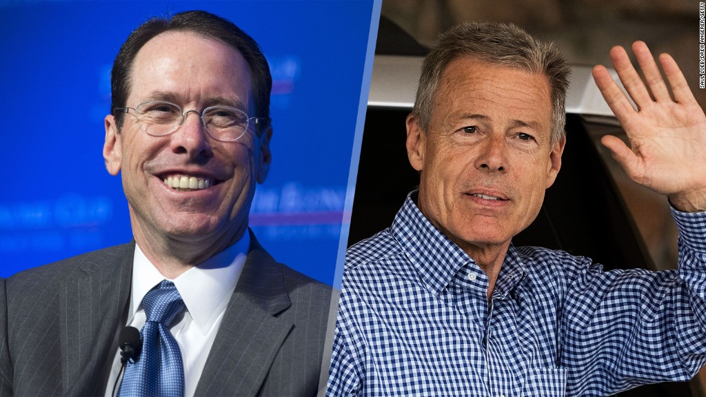 Time Warner, AT&T CEOs on $85 billion merger