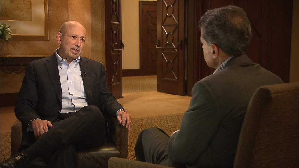 "Blankfein: ""People should feel better"" about the economy"
