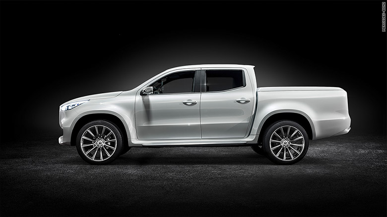 Mercedes benz unveils first pickup truck for Mercedes benz trucks