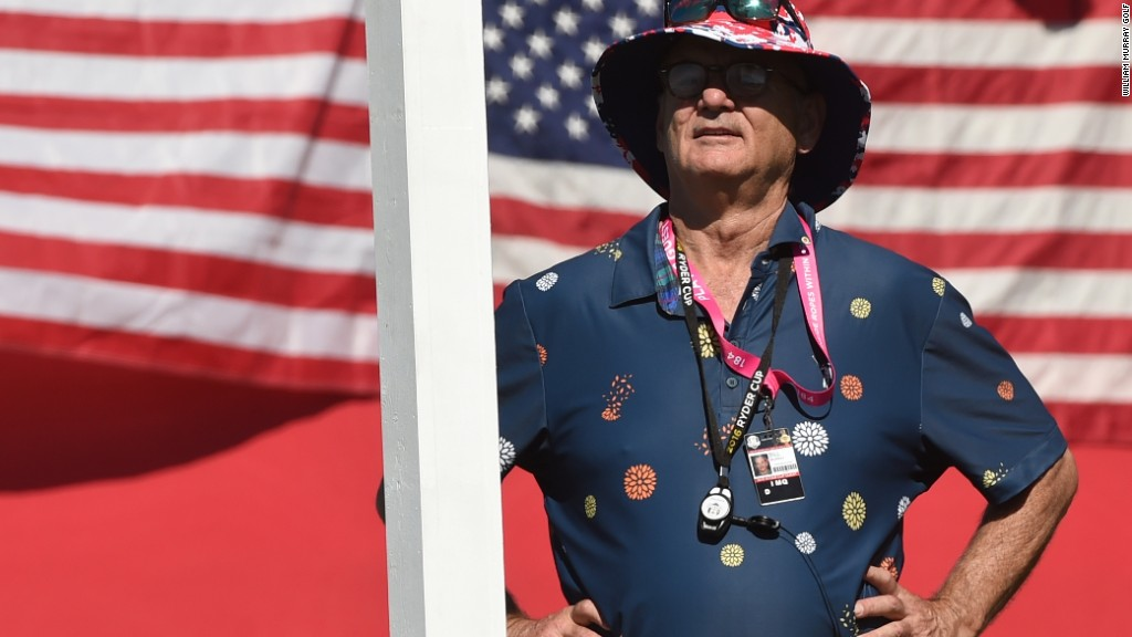 Bill Murray brings his distinct style to golf clothes