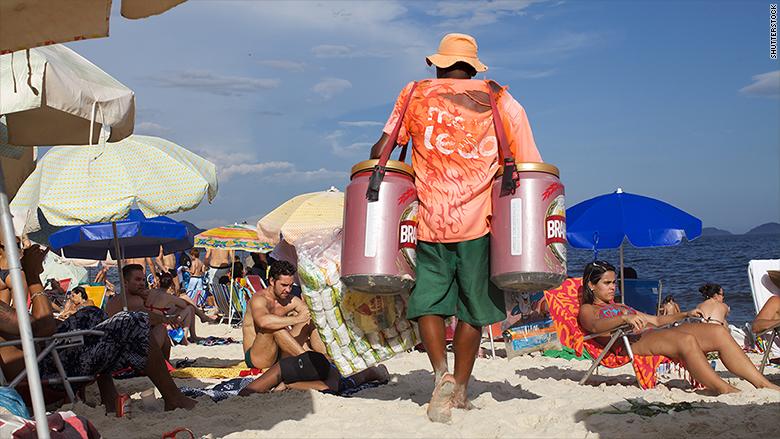 brazil beach beer