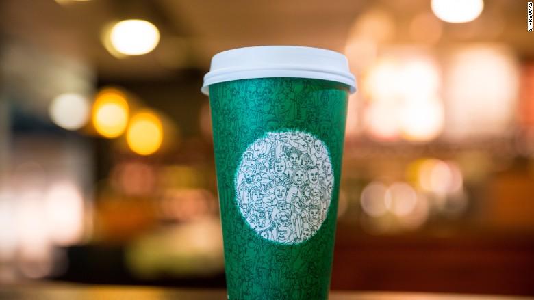 green starbucks cup