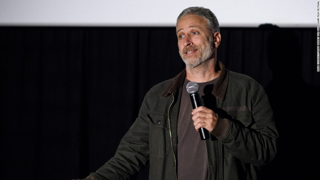 Jon Stewart: 'Nobody asked Donald Trump what makes America great'