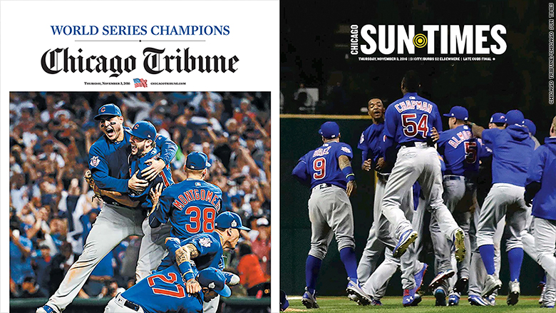 chicago tribune sun times split