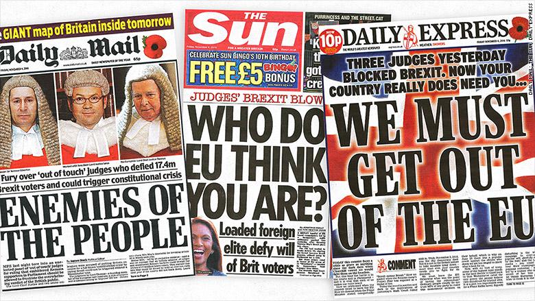 brexit tabloids