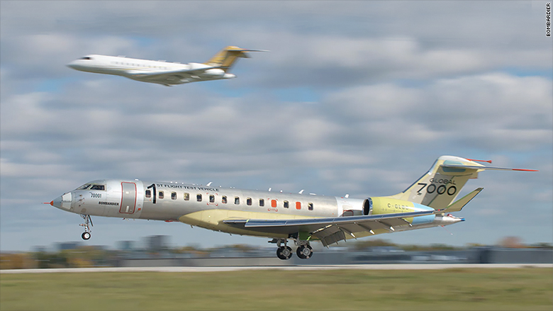 bombardier global 7000 first flight
