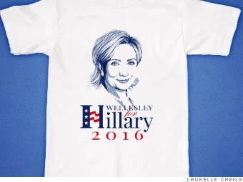 Wellesley hillary shirt