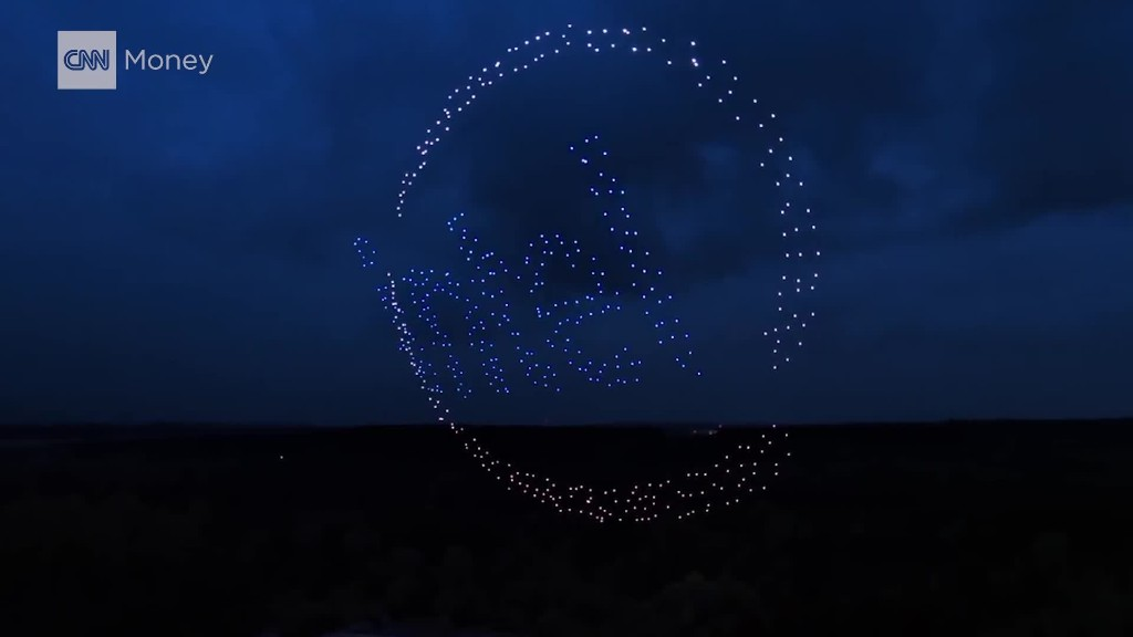 Intel puts on a light show with 500 drones