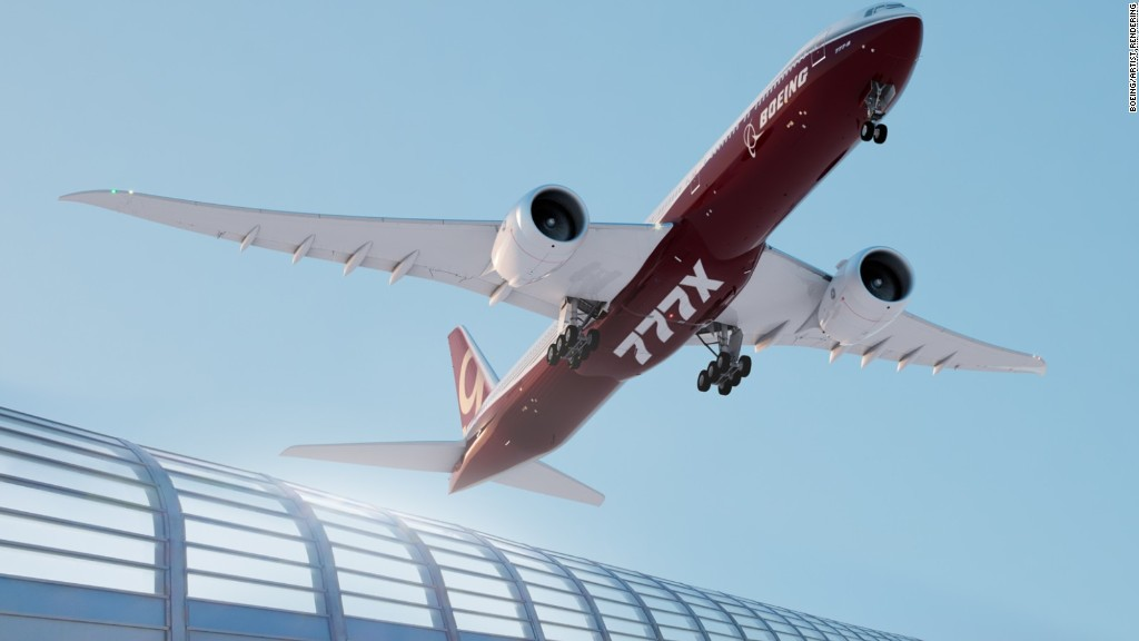 World's biggest twin-engine jetliner has foldable wings