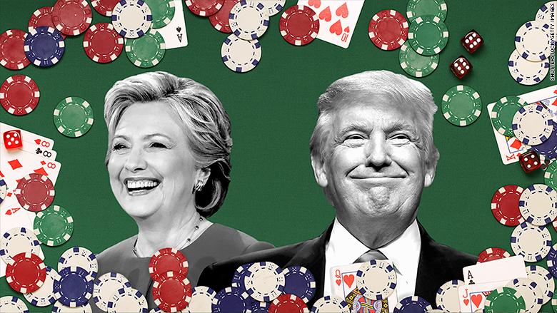 election 2016 betting donald trump hillary clinton
