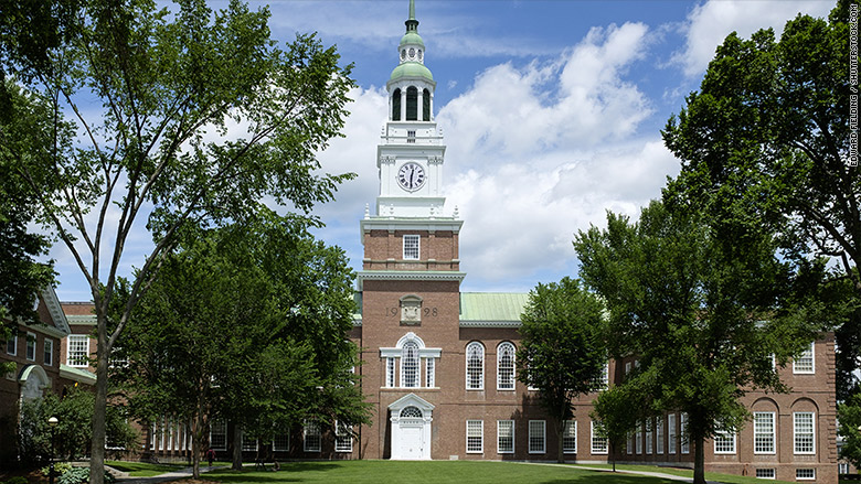 most expensive colleges 2016 dartmouth
