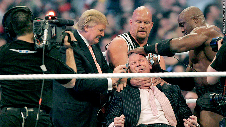 trump mcmahon wrestlemania 2007