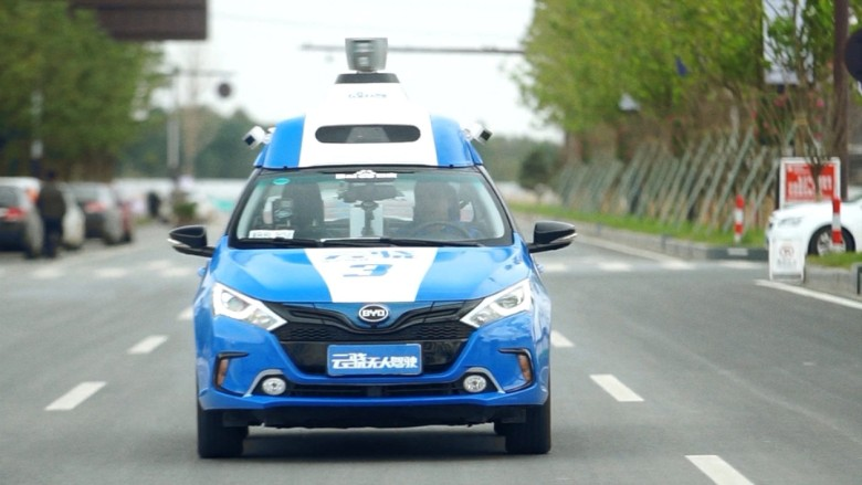 baidu driverless car