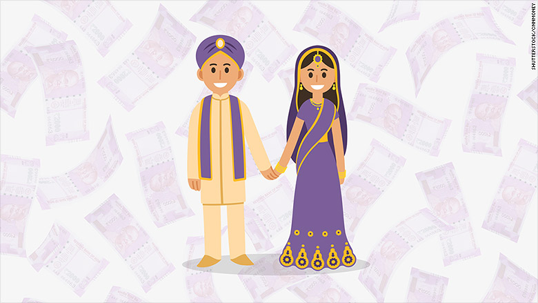 india cash ban weddings
