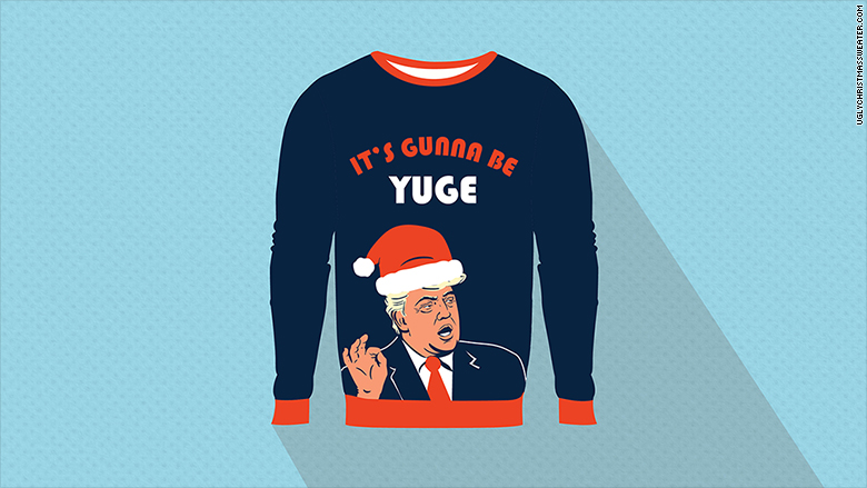 ugly xmas sweater trump - Inappropriate Christmas Sweaters