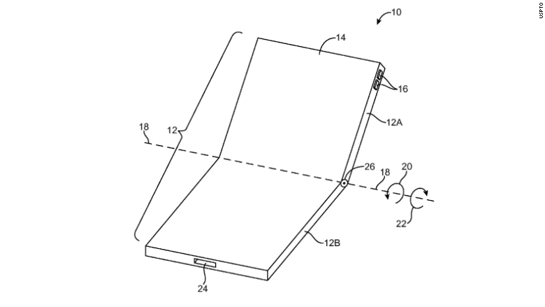 apple patent folding screen