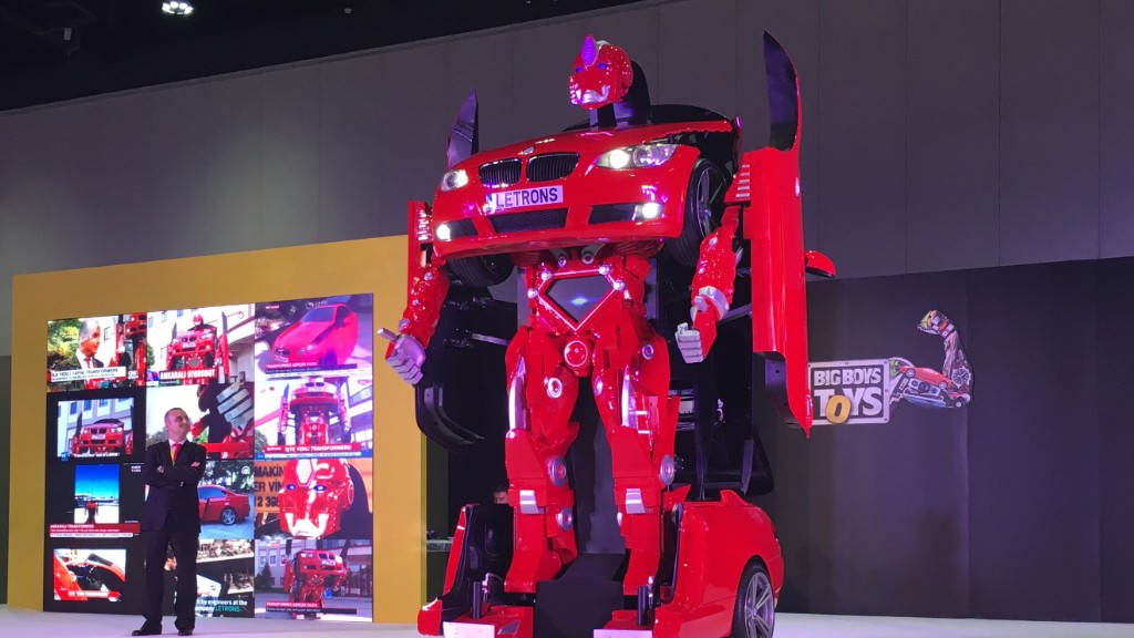 Real-life transformer up for auction