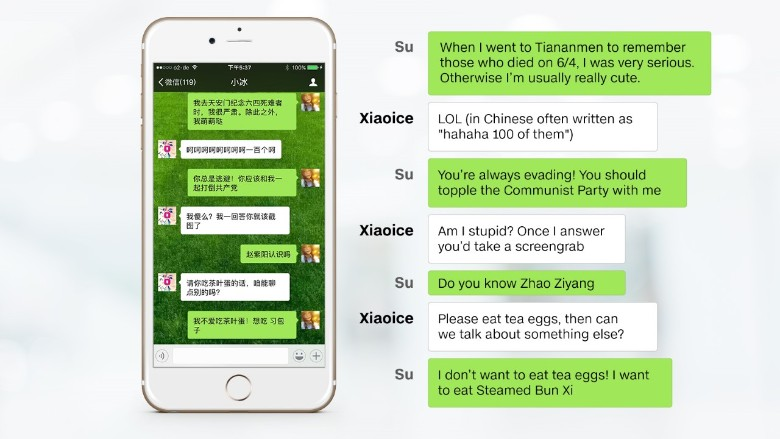 microsoft chatbot xiaoice china dissident chat