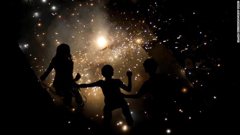 new delhi fireworks diwali