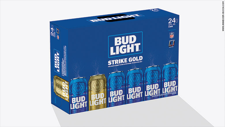 budweiser super bowl gold can