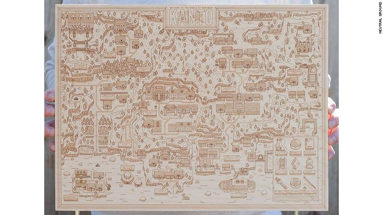 Wooden Pokémon World Map - 14 gifts gamers would actually ...