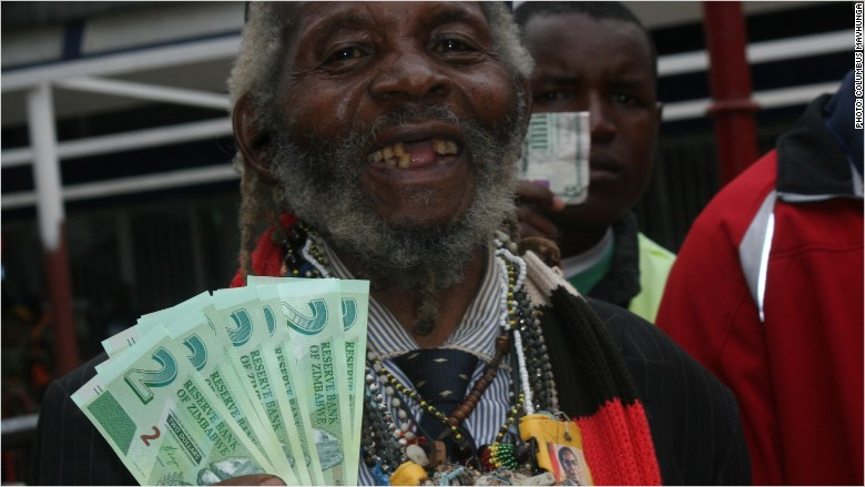 zimbabwe new bond notes man
