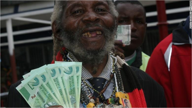 zimbabwe new bond notes man