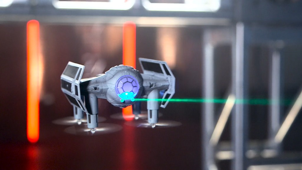 Star Wars drones battle mid-air at 35mph